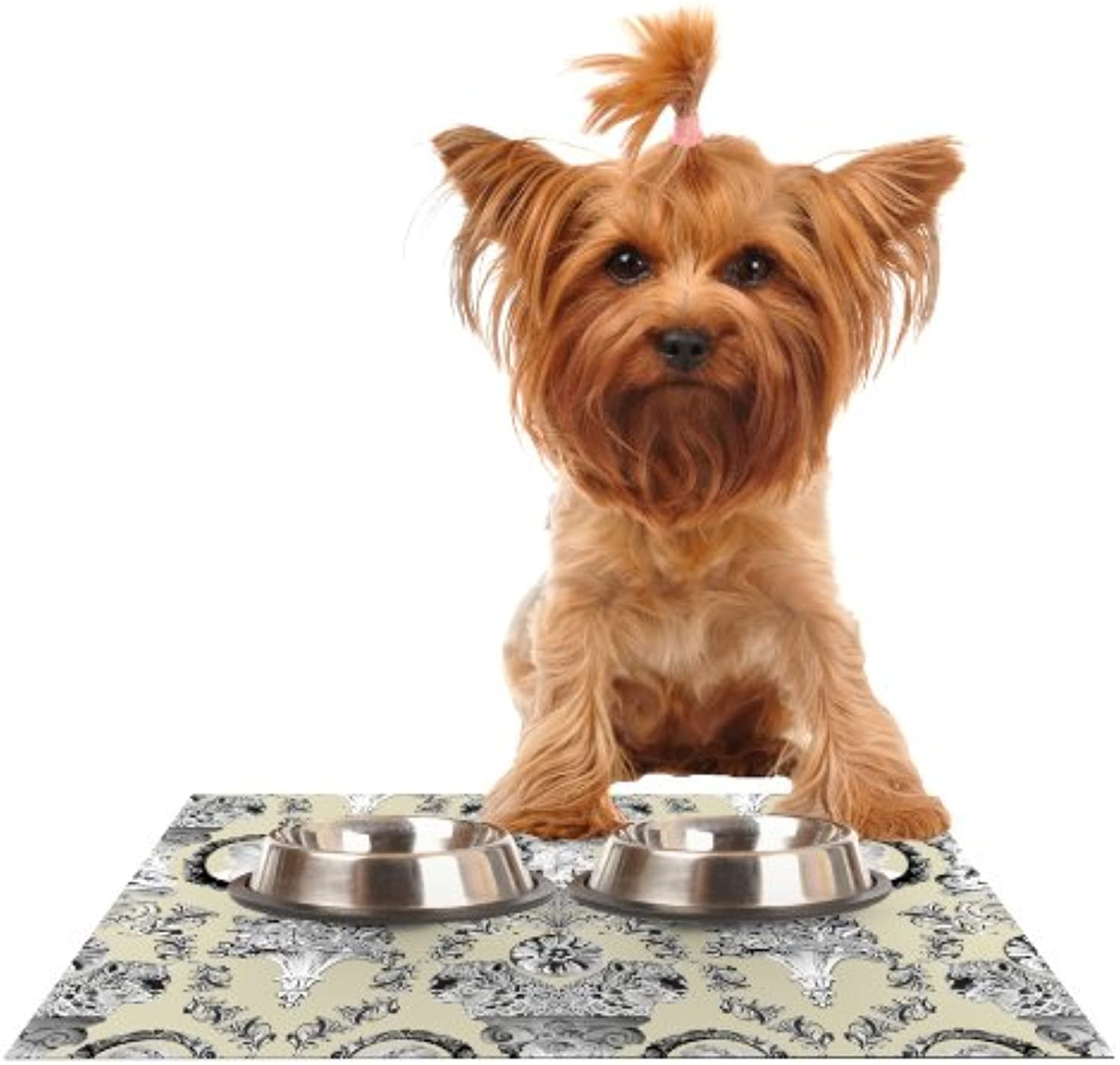 Kess InHouse DLKG Design Imperial Palace  Feeding Mat for Pet Bowl, 18 by 13Inch