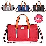 Hotrose Sporttasche Handgepäck mit Schuhfach Trainingstasche Fitnesstasche Gym-Tasche Sporttasche hochwertige