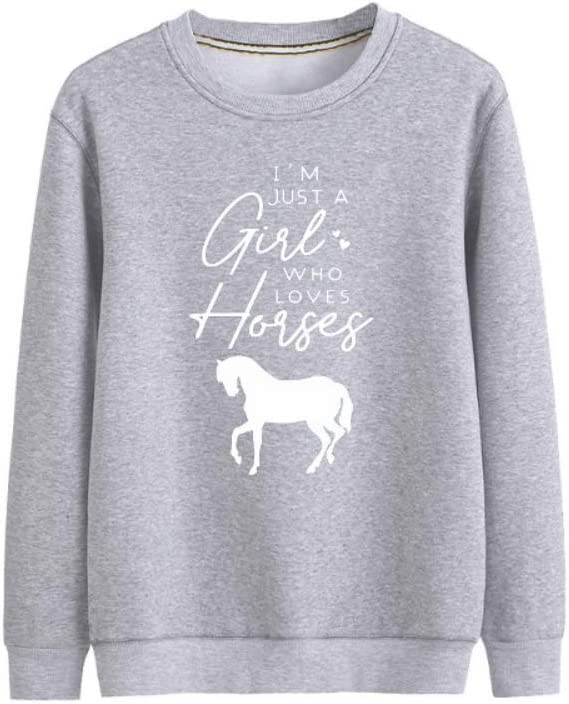 Pmnnnelpo Pullover I'm Just A Girl Who Loves Horses All-Match Pullover Basic Men (Color : B03, Size : XX-Large)