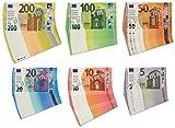 Betzold 2461 - Spielgeld Euro-Scheine Kinder 130 Stück, reißfeste hygienische Folie - Rechnen Spielzeuggeld Rechengeld
