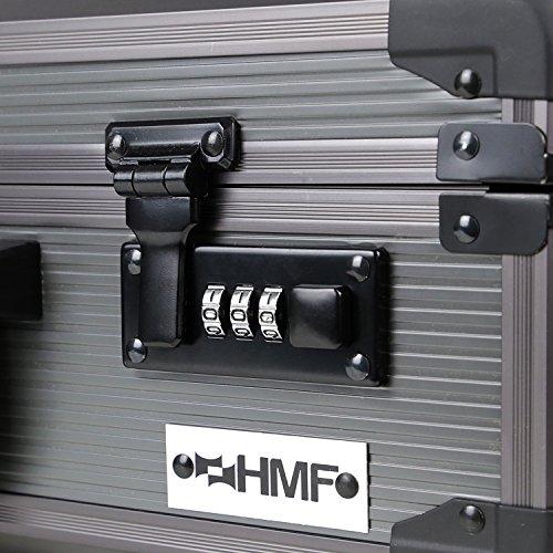HMF 14402-02 Alu Fotokoffer, Waffenkoffer mit Rasterschaumstoff | 46 x 33 x 15 cm