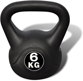 vidaXL Pesa Rusa de 6 Kilos Negra Kettlebell Musculación Fitness Ejercicio