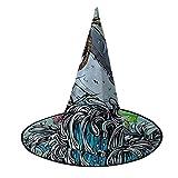 Disfraz unisex de bruja de Halloween, disfraz de cráneo de caballo de tiburón con patrón de ondas de mar para cosplay, accesorios de mascarada para niños, hombres, mujeres y negro