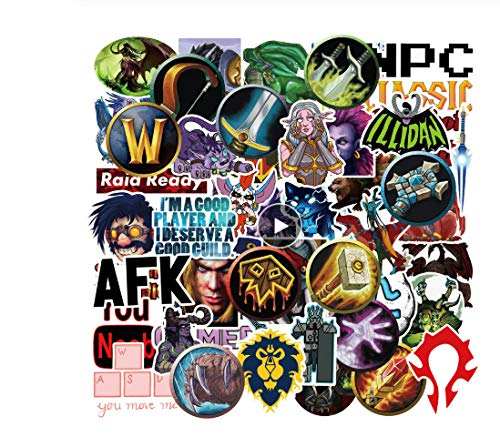 votgl 50 stuks Aliauto World of Warcraft stickers Tribal Hero Reflective Car Sticker en Decla voor Ford Focus Honda Volkswagen