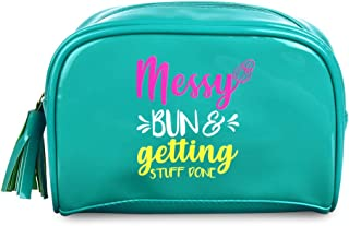 Doodle Go-Getter Premium Rexin Pouch (Turquoise, 5.5 X 7.75 Inches) Cosmetic Pouch, Stationery Pouch, Gift for Girls