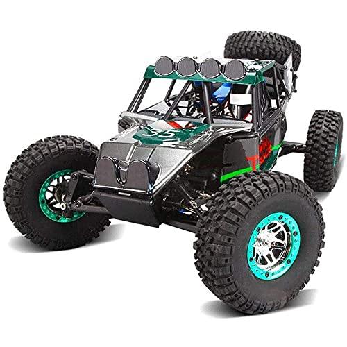 YAMMY Vehículo RC Todoterreno 4WD de Alta Velocidad 1/10 Coche de Control Remoto de Escalada Todo Terreno Grande 2.4G Juguete de Carreras multijugador Recha (Coche RC Inteligente)