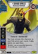 Star Wars Destiny - Savage Opress- Reckless Warrior - Rare - Across The Galaxy