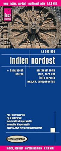 Reise Know-How Landkarte Indien, Nordost (1:1.300.000): world mapping project