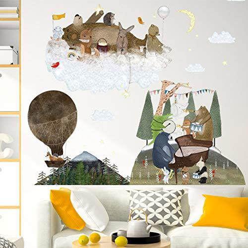 ZPZZPY Cartoon Animal Concert Home Wandaufkleber Umweltfreundliche Dekoration Für Wohnzimmer Sofa Tv Hintergrund Wandtattoos