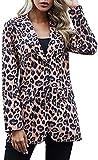 EUDOLAH Chaqueta Moda Chica Mujer con Un Solo Pecho Blazers Casual Ligero para Mujer 2 Leopardo,M
