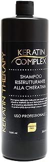 Shampoo ristrutturante Keratin Therapy alla cheratina per uso professionale 100% made in italy senza parabeni flacone da 1...