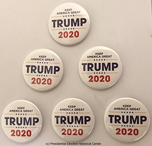 Presidential Election Historical Center Keep America Great Trump 2020 Campaign Button Set of 6 (WALL-701)