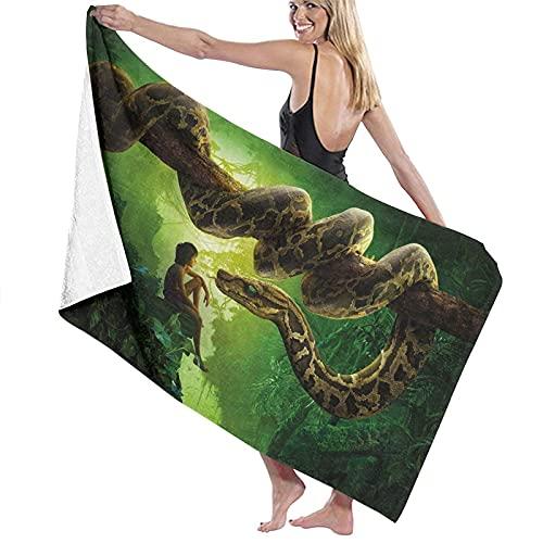 ZDmood Toalla de baño de Microfibra Jungle Book Yoga portátil de la natación de la Aptitud de la Toalla de Playa de Secado rápido 80X130CM