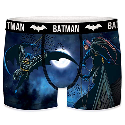 DCComics Black Batman Edition Boxershorts - 4 MEGA Motive zur Auswahl in Größen von S-XXL (L/6/50, Batman in The Moon)