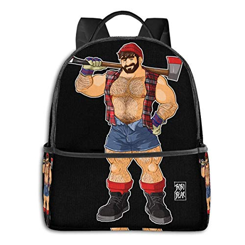 XCNGG Anime Adam Likes Lumberjacks Classic Student School Bag School Cycling Leisure Travel Camping Outdoor Backpack
