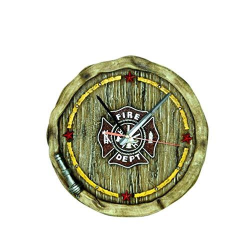 Montana West Wanduhr Fire Dept Feuerwehr Depot Feuerwehrschlauch
