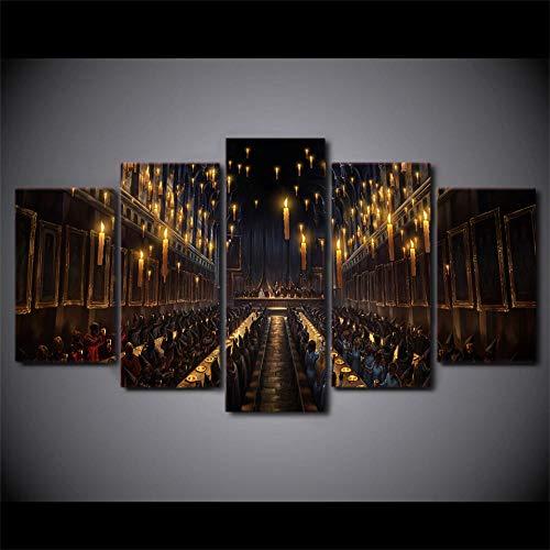 WHOOPS Leinwand Wandkunst Bilder Gedruckt Modulare Wohnkultur 5 Panel Film Harry Potter Szene Hd Wohnzimmer Gemälde Moderne Poster Rahmenlose 30 * 40 * 2 30 * 60 * 2 30 * 80 cm