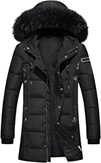 M/&S/&W Mens Warm Cotton Jacket Stand Collar Zip Up Outerwear Winter Thick Coat Jacket