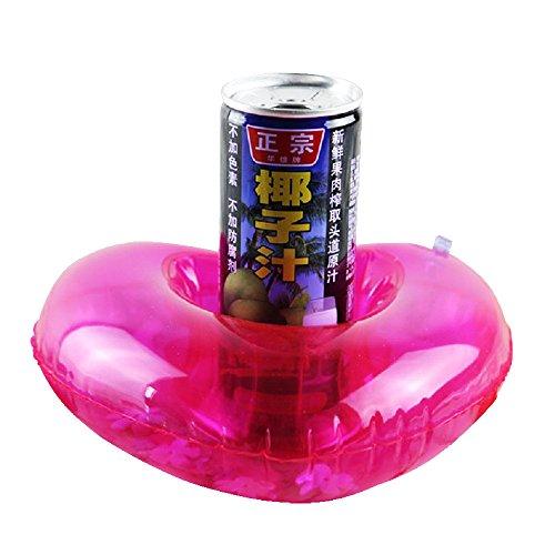 Sotoboo - Juego de 4 posavasos hinchables para bebidas, diseño de corazón...