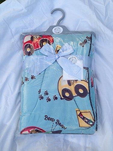Couverture pour bébé ou foft doublés en polaire Bleu 100 x 75 cm