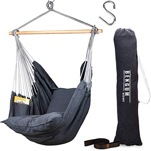 Bengum Hammock Chair Hanging Swing Indoor and Outdoor Use Large Swinging Seat Chair for Patio product image