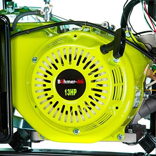 Böhmer-AG WX5000E - Grupo Electrógeno Portátil a Gasolina con Adaptadores Enchufes EU - Arranque con Llave eléctrica - 7500 W - 9,4 kVA - 13 HP