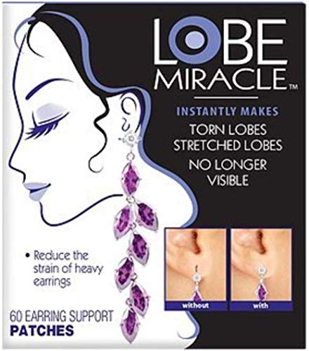 Lobe Wonder Support Patches for Earrings 60 ea by CCA Industries, Inc. (English Manual)