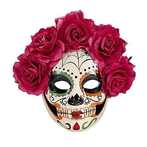 Widmann Masque Dia de los muertos, roses Womens, Taille unique, vd-wdm04785