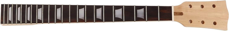 Seacanl Reemplazo de Cuello de Guitarra, Arce sostenido Ajustable 22 trastes Fácil de Instalar Diapasón de Cuello de Guitarra de resonancia para GS405 para Instrumento Musical