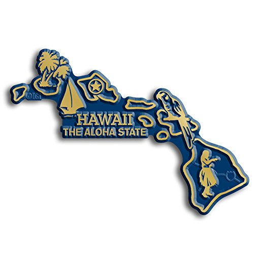 Hawaii State Map Magnet