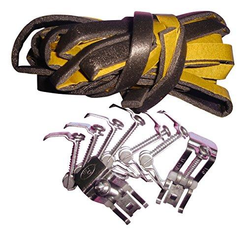 Sanitop-Wingenroth Series 223386Juego de montaje para fregaderos empotrados resistente al fregaderos, 8grapas, banda de acero inoxidable, para montaje, cromado