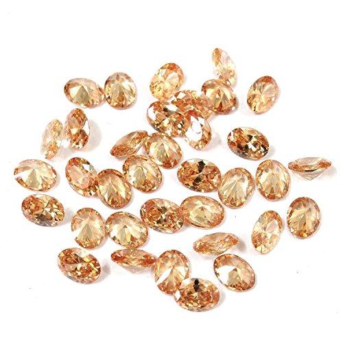 Mughal Gems & Jewellery Herren - N/A Oval Champagnerfarben Keine Angabe