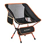 Oudort Portable Camping Chairs, Ultralight Foldable Chairs Adjustable for Outdoor activities, Backpacking Collapsible