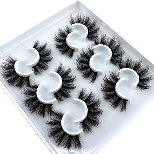 HBZGTLAD 6 Pairs Fluffy False Eyelashes Natural Faux Mink Strip 3D Lashes Pack (MDF-12)