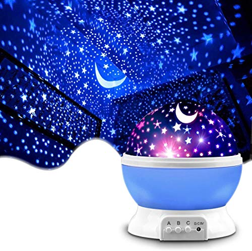 REETIK FASHION HUB Plastic Lamp With Usb Cable, Multicolour, 1 Star Moon Projector, 1 Usb Cable, Instruction Manual