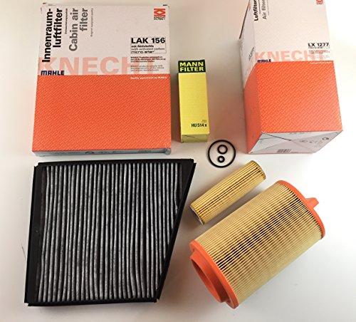 MANN/Mahle Filter Set Ölfilter Aktivkohlefilter Luftfilter E-Klasse W211 S211 E200 NGT E200 Kompressor