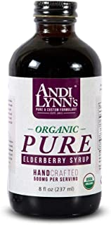 Sponsored Ad - Andi Lynn's Pure Black Elderberry Syrup with Honey - Original Sambucus for Immune Support – Fast Acting 500...