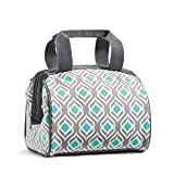 Fit & Fresh Charlotte Insulated Lunch Bag for Women, 9' x 6' x 8', Gray
