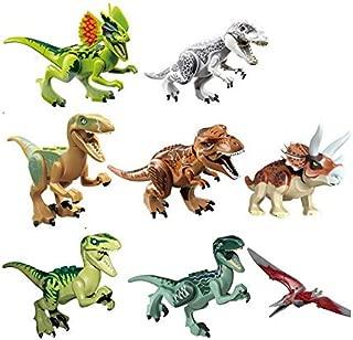 8 Pcs Jurassic Dinosaur Building Blocks Tyrannosaurus Dinosaur Action Figures Bricks Toys Compatible Legoe Dinosaur-ejv
