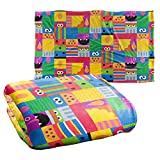 Trevco Sesame Street Squares Silky Touch Super Soft Throw Blanket 36' x 58'