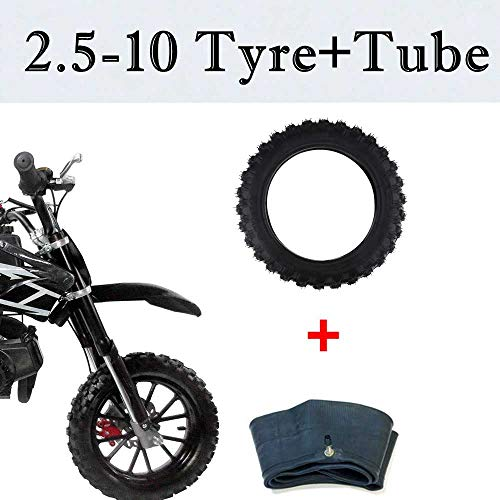 Why Choose Black 2.50-10 2.50X10 Rubber Tire & Inner Tube Set For Crf50 Xr50 Pw50 Fits For For Yamah...