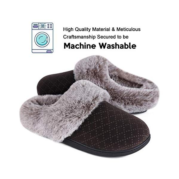 LongBay Women's Elastic Fleece House Shoes Velvet Faux Fur Slippers