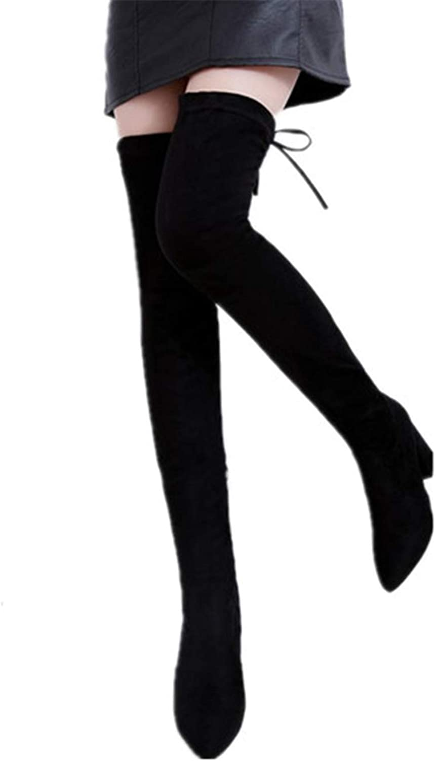 Smart.A Womens Fashion Stylish Pull On Over Knee High Sexy Boots