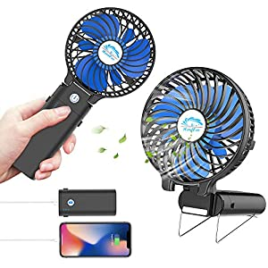 RoadRoma Mini Ventilador de pulverizaci/ón de Agua Ventilador de refrigeraci/ón//Ventilador de Agua pulverizada a Mano Bater/ía Azul de Encendido