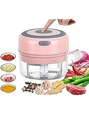 VOUM Mini Electric Food Chopper, Powerful Cordless Electric Vegetable Chopper/Fruit Chopper/Garlic/Vegetable/Meat etc. Kitchen Gadget (100ML) (Pink)