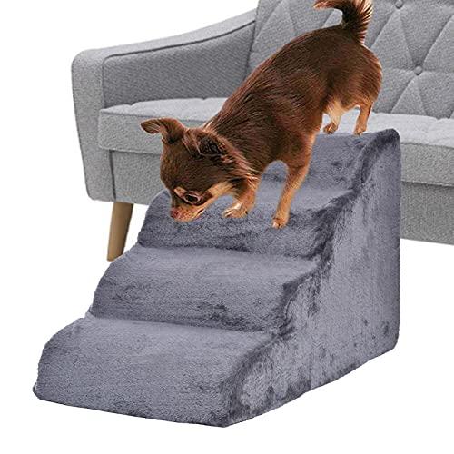 Escalera para Perros Y Gatos, Escalera para Mascota De 4 Escalones Escalera para Mascotas Escalera para Gatos, para Perros Pequeño Animales Cachorro(80 × 42 × 50cm)