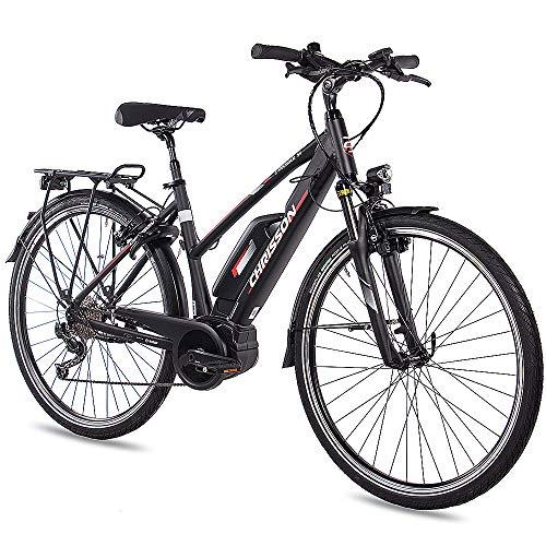 CHRISSON Bicicleta eléctrica para mujer de 28 pulgadas, de trekking y ciudad,...