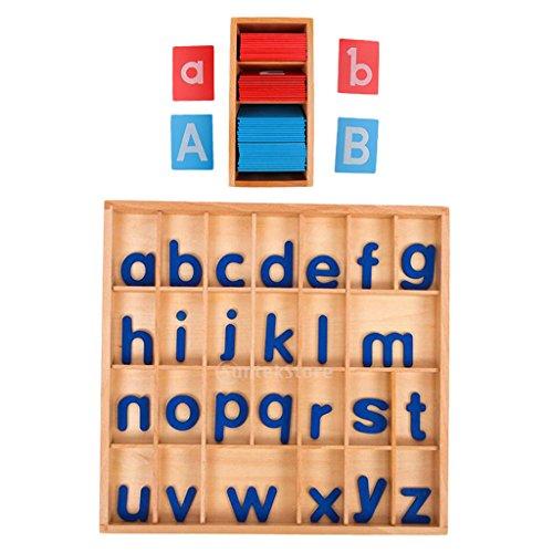 Fenteer Ensemble De Jouets en Bois pour Aide à l'enseignement Montessori - Alphabet Alphabétique avec Cartes-Cadeaux, Cadeau De Noël