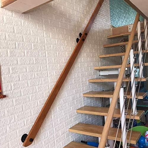 1ft-20ft 0806 Indoor And Outdoor Elderly And Children Stairway Railing Track Support Size : 220cm Wall-Mounted Anti-Skid White Stair Handrail