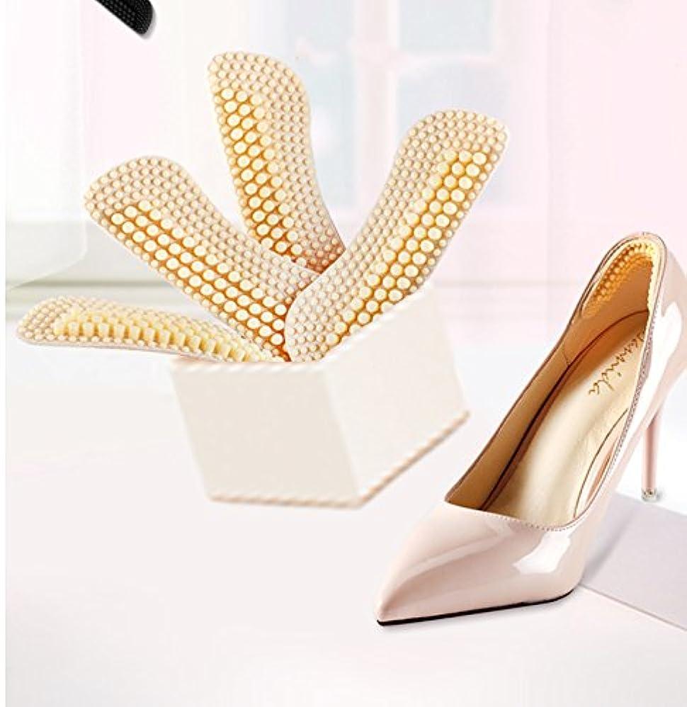 研磨きちんとしたペフIKRR 靴擦れ防止パッド かかと滑り止め かかと調整パッド 4D かかとクッション 痛み軽減 パカパカ防止 滑り止め 靴のサイズ調整(2足セット4枚) シリコン 男女兼用